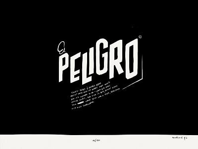Paper Book: El Peligro illustration paper 53 minimalist ink lettering typography retro peligro danger handmade