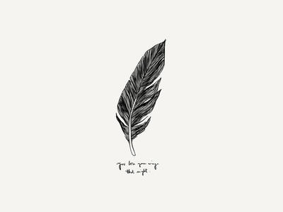 Paper Book: Wings illustration paper 53 minimalist ink lettering feather wings indie