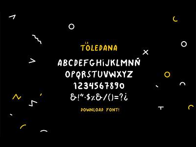 La Toledana - Script Font font download typography type lettering indie hipster script handwritten handmade