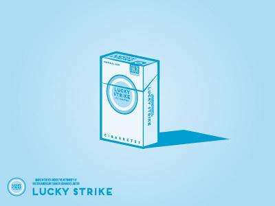 Lucky Strike Packaging packaging cigarettes cigar tobacco vintage illustration lucky strike design