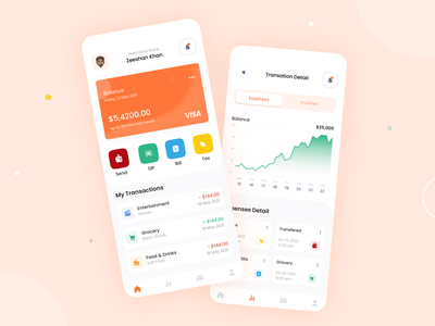 Finance App UI Design application design app ui app ui ux app design app ui design
