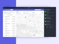 Shipment Transit Status tracking status status map shipping app shipment track tracking app map view logistics dashboard dailyui user experience daily ui application ux