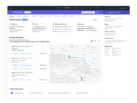 Shipment Details table shipping company shipping management shipping trucking delivery details shipment logistics design ui user experience application ux
