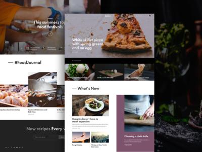 Krave homepage website web design ui ux food