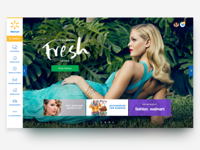 Walmart Brazil Homepage walmart left navigation ui ux fashion e-commerce homepage