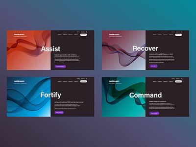 Continuum Products website design web design branding app ux design b2b ui