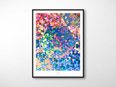 Randomization Poster Series - 02 // Efficiency poster design software plugin illustration design mockup grid hexagon blend mode abstract poster illustrator extension abstract adobe illustrator