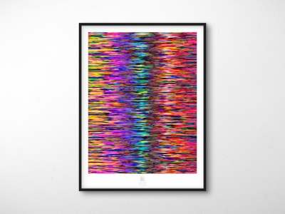Randomization Poster Series - 04 // Diffraction geometric decoration wall art poster design mockup blend mode abstract poster illustrator extension abstract adobe illustrator