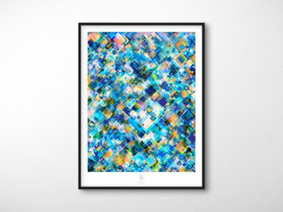 Randomization Poster Series - 06 // Caustics transparency geometric poster design mockup colorful rainbow blend mode design abstract poster illustrator extension abstract adobe illustrator