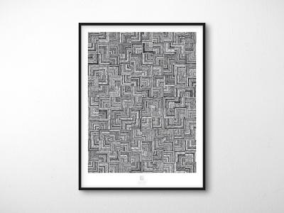 Randomization Poster Series - 08 // Parallelization trippy geometric abstract extension software plugin randomill illustrator adobe illustrator graphic design poster design poster monochromatic bw black and white psychedelic