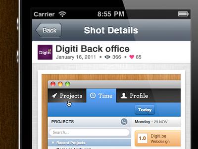An idea... concept dribbble iphone app mobile shot details ios