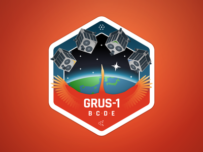 Mission patch for the GRUS-1 satellites launch satellites patch space