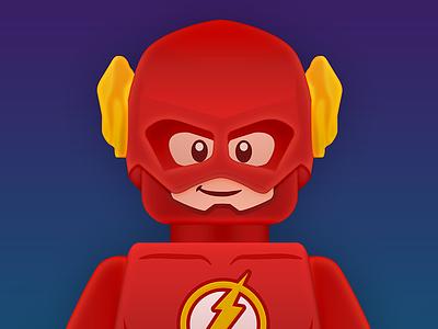 The Flash avatar lego flash red yellow