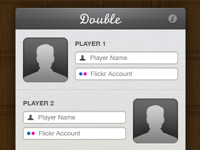 Doubles - Main Window double ipad game input fields interface ui flickr doubles