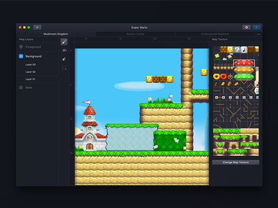 Introducing Mapkit! games mario ux dark ui editor macos
