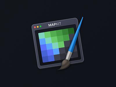 Mapkit - App icon icon macos games editor dark