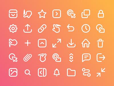 Prott 2 - Icon set icons set documentation guide branding icons