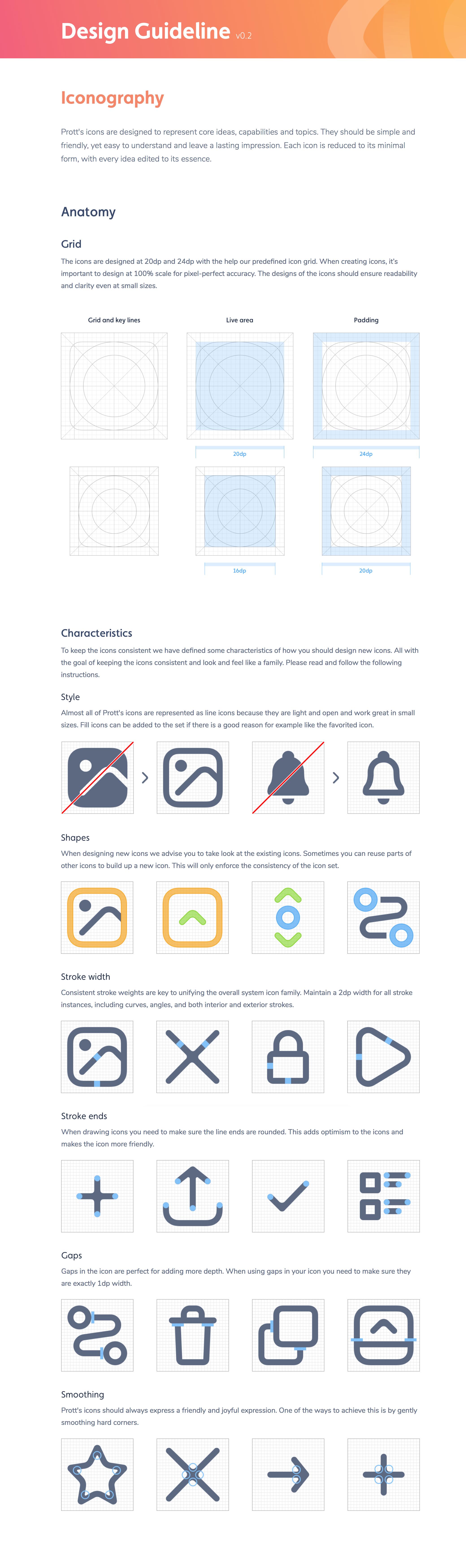 Icon guide