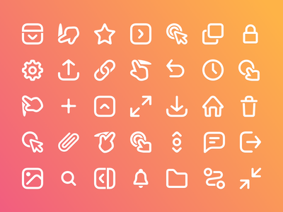 Prott 2 - Icon set icons set documentation guide branding icons
