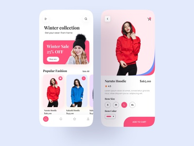 E commerce fashion app design mobile app online shop mobile ui shop app design app ecommercer app product fashion ux ui winter mobile app design