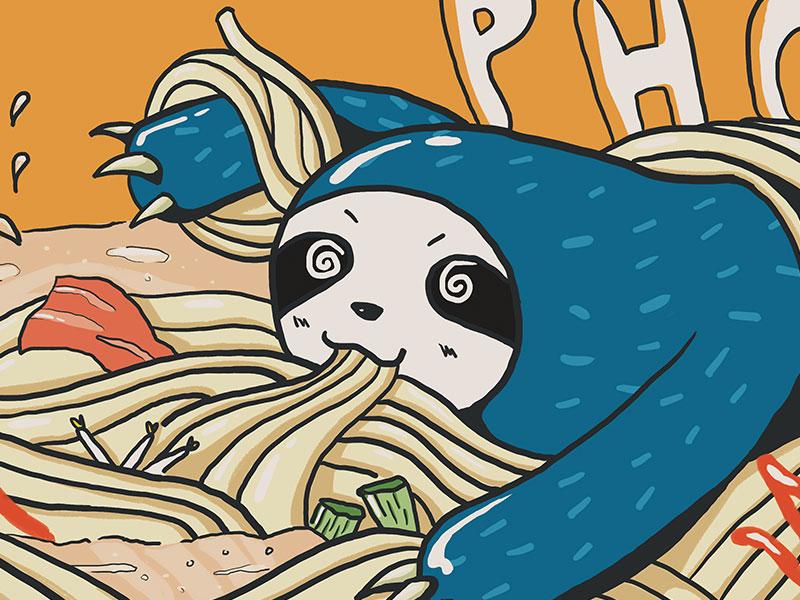 Dribbble sloth