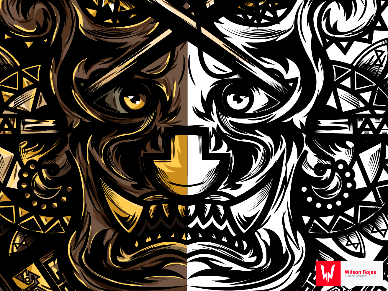 Kapchiy illustration draft art vector design illustration