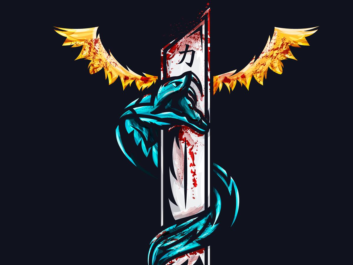 Sword illustration vector illustration draft design art