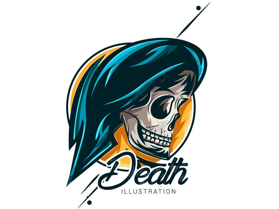 Skull illutraation vector illustration draft design art