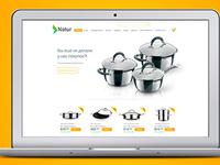Concept online store utensils