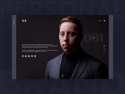 Personal branding. Portfolio of the marketer