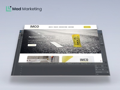 IMCO Australasia Website mad marketing uidesign ui design website builder website design website web design webdesign typography web ui design