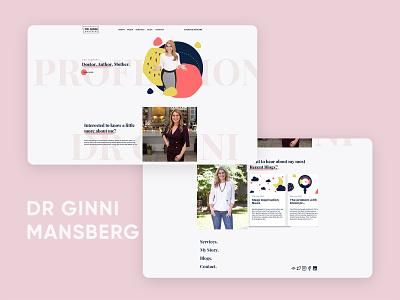 Dr. Ginni Mansberg template tv doctor dr tv illustration logo design typography mad marketing design