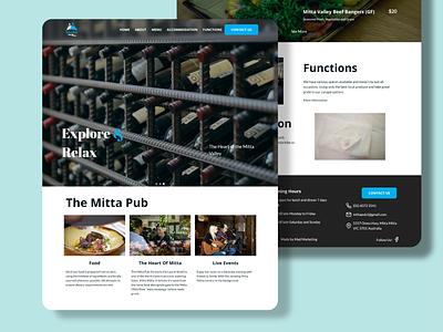 Mitta Pub Website made in aus locals supporting locals local moodboard australia colour theme logo icon vector branding typography mad marketing illustration design