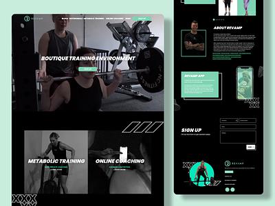 Revamp Website fitness club gym graphics branding colour theme australia logo design logo typography mad marketing design