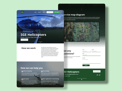 SGE Helicopters' Website icon vector ui graphics branding australia colour theme typography mad marketing design