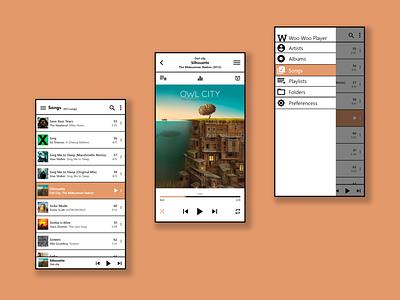 Minimal Music App Concept ux design ui minimal flat app