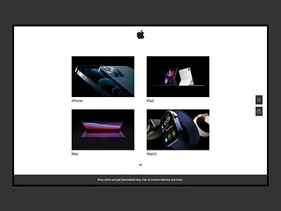 Apple Website Home page redesign website icon branding web flat design ux ui