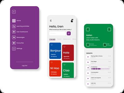 Learning app design app ux flat ui
