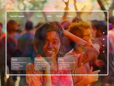 Traveling Website Landing page website design web flat minimal webdesign ux ui