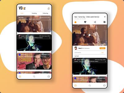 Video Streaming app ui logo flat design branding minimal ux ui