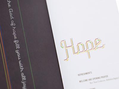 Hope Print Piece hope colorful logo