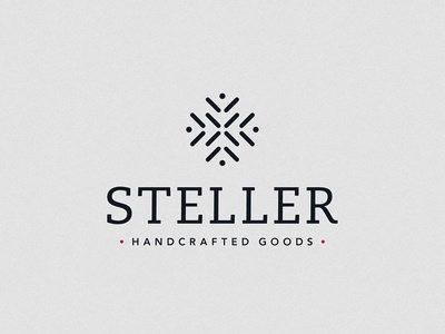 Steller Handcrafted Goods Logo clothing clothing brand real minnesotans minnesota stitching scandinavian nordic graphic design logo graphic design branding