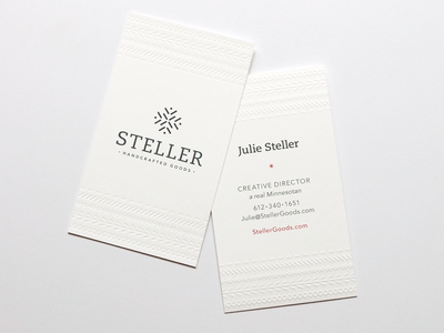 Steller Handcrafted Goods Business Cards
