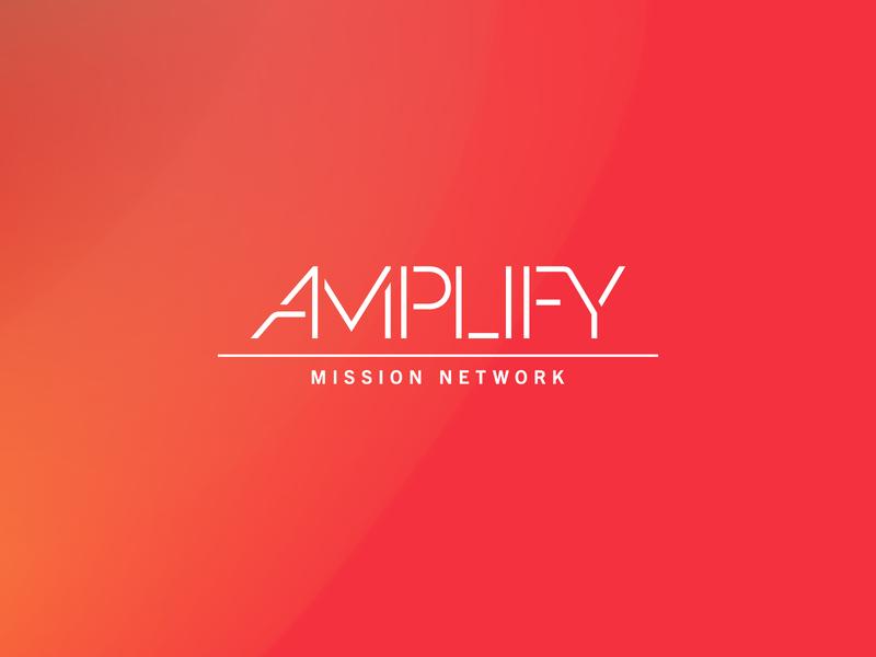 Amplify Mission Network branding christian designer christian gradients gradient vibrant colors stencil nonprofits branding non-profit nonprofit logo