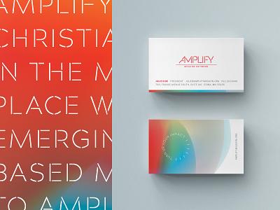 Amplify Business Cards christian designer christian business cards business card gradients gradient stencil nonprofits non profit non-profit nonprofit print logo branding