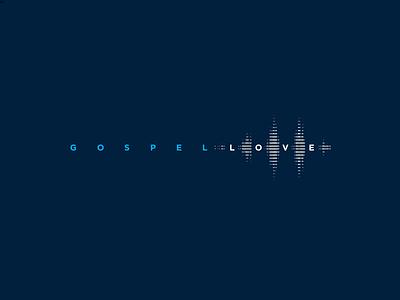 Gospel Love 1 sound soundwave reverberation love gospel logo branding christian