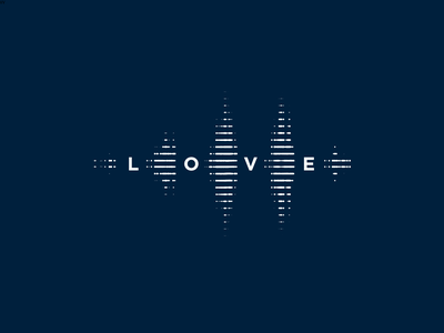 Gospel Love 2 reverberation reverberate soundwave sound love gospel logo branding christian