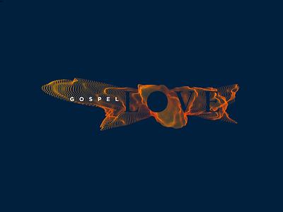 Gospel Love 3 soundwave sound reverberate gospel love logo branding christian
