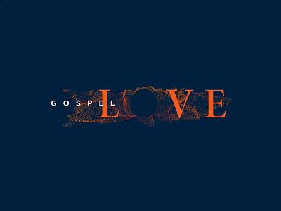 Gospel Love 4 reverberate soundwave sound reverberation gospel logo branding christian