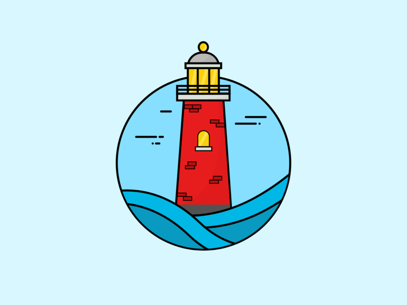 LightHouse abstract design colors lighthouse minimalistic line art createwithadobexd madewithadobexd vector art design illustration adobexd